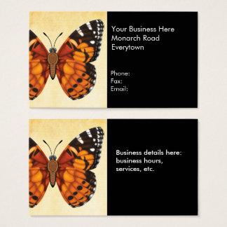 Señora pintada Butterfly Tarjeta De Negocios