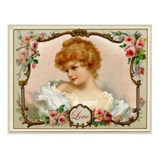 Señora preciosa Vintage Reproduction Postcard Postal