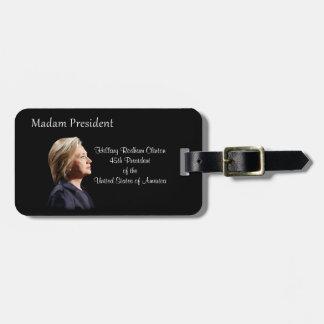 Señora presidente estilo 2 etiquetas para maletas