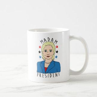 Señora presidente Hillary Clinton Taza De Café