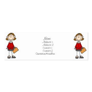 Señora Profile Cards del negocio Tarjetas De Visita Mini