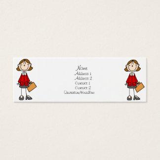 Señora Profile Cards del negocio Tarjeta De Visita Pequeña