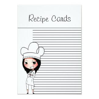 Señora Recipe Cards del cocinero Invitación 12,7 X 17,8 Cm