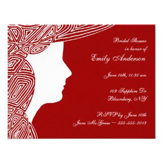 Señora Red Bridal Shower Invitation Invitaciones Personalizada
