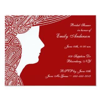 Señora Red Bridal Shower Invitation Invitación 10,8 X 13,9 Cm