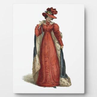 Señora roja de la regencia placa expositora