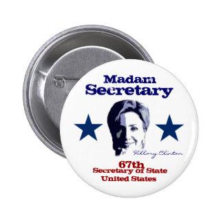Señora secretaria chapa redonda de 5 cm