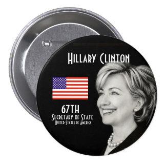Señora secretaria (redonda) chapa redonda de 7 cm