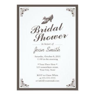 Señora Shoe Bridal Shower de la frontera del Invitación 12,7 X 17,8 Cm