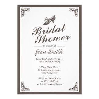 Señora Shoe Bridal Shower de la frontera del vinta Comunicado