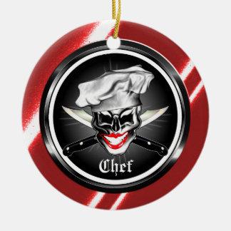 Señora Skull Ornament del cocinero Adorno De Reyes