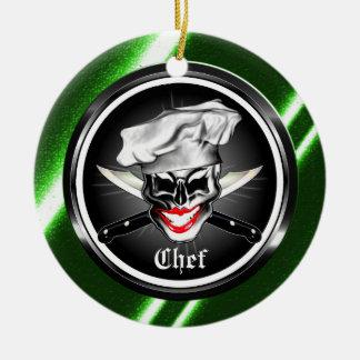 Señora Skull Ornament del cocinero Ornamento Para Reyes Magos
