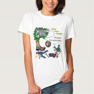 Señora tridimensional Tee del juego de la Camiseta