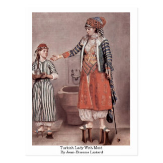 Señora turca With Maid By Jean-Etienne Liotard Postal