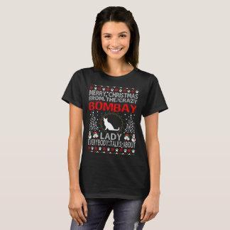 Señora Ugly Sweater Shirt del gato de Bombay de