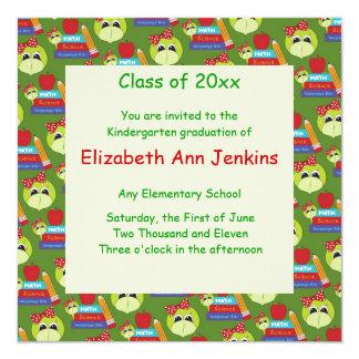 Señora verde Turtle Graduation Announcement Invitación 13,3 Cm X 13,3cm