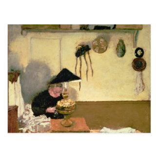 Señora Vuillard Sewing Postal