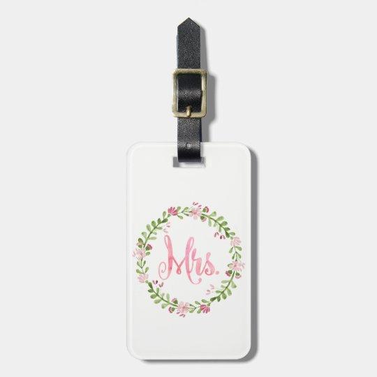 Señora Watercolor Luggage Tag Etiqueta Para Maletas