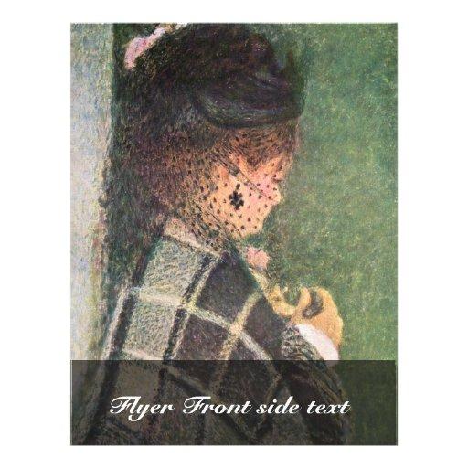 Señora With Veil By Pierre-Auguste Renoir Tarjetas Publicitarias