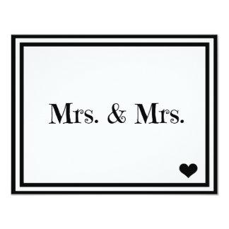 Señora y señora invitación 10,8 x 13,9 cm