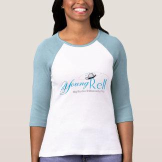 Señoras 3/4 raglán de la manga (cabido) camisetas