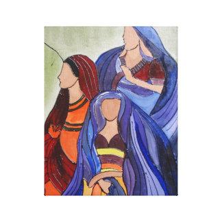 Señoras abstractas impresión en lienzo