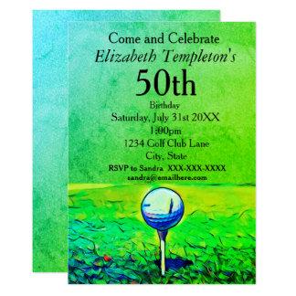 Señoras adultas coloridas Golfing invitaciones del