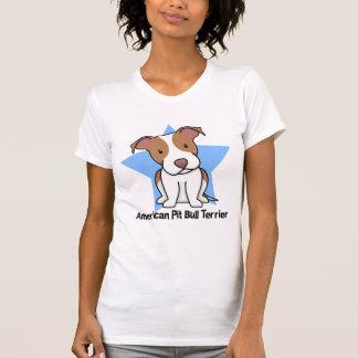 Señoras americanas de Terrier de pitbull de la Camisetas