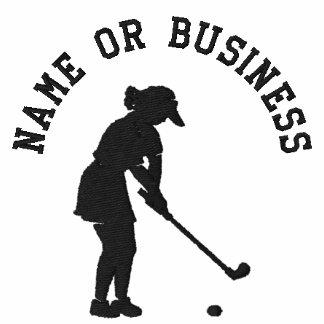 Señoras bordadas camiseta del golf, chicas