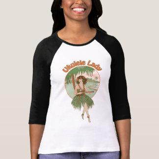 Señoras de la señora #1 del Ukulele 3/4 raglán de Camiseta