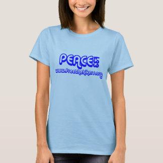 Señoras del 1:33 de la paz de FTH azules Camiseta