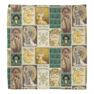 Señoras del art déco del vintage bandanas