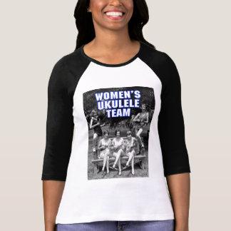 Señoras del equipo de Uke de la mujer 3/4 raglán Camisas