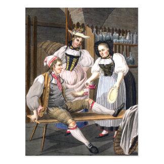 Señoras del vino de la postal de Berna