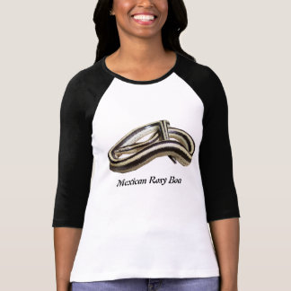 Señoras mexicanas de la boa atractiva 3/4 raglán d camiseta
