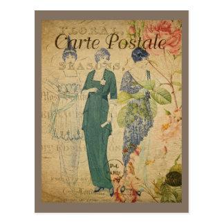 Señoras parisienses del vintage postal