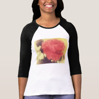 señoras subiós vintage de la camisa del raglán