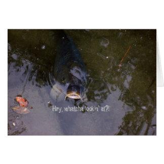 Sensación a pescado tarjeta de felicitación