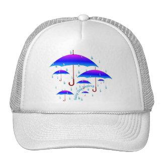 Sensación del día lluvioso gorras de camionero