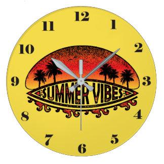 Sensación del verano - puestas del sol sin fin reloj redondo grande