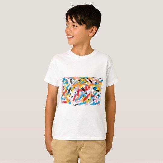 Sensación positiva Splah de la camiseta del color