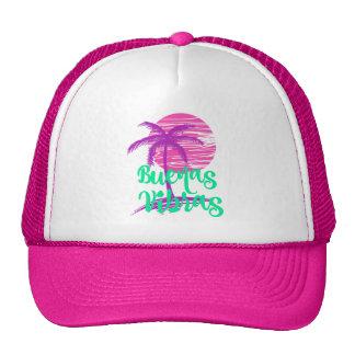 Sensación verde de Buenas Vibras de la palmera Gorros