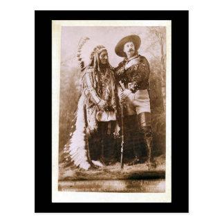 Sentada Bull y Buffalo Bill 1895 Postal