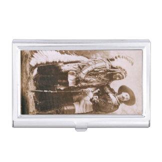 Sentada Bull y Guillermo F. Cody Vintage Cajas De Tarjetas De Presentación