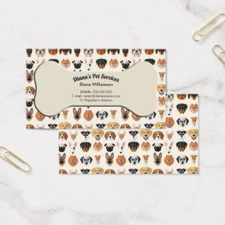Sentada del mascota, preparación y tarjeta de