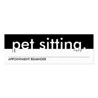 sentada del mascota. (tarjeta de la cita) tarjetas de visita mini