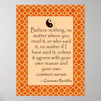 Sentido común de la cita de Buda…. en los posters