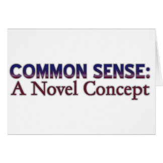 Sentido común: Un concepto nuevo Tarjeta De Felicitación