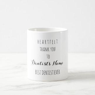 Sentido gracias la mejor tipografía del dentista taza de café