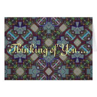 Sentimientos dulces tarjeta de felicitación
